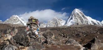 Cenotaph ku pamięci Peter legata, arywista który umierał na Everest Obrazy Royalty Free