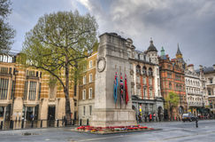 Cenotaph, London, UK. Cenotaph to commemorate the dead of all wars, Whitehall, London, UK stock image