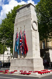 The Cenotaph in London. The Cenotaph War Memorial in Whitehall, London stock photo