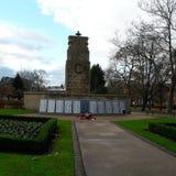 The cenotaph in november. Clifton park Rotherham Royalty Free Stock Photos