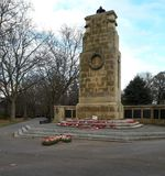 The cenotaph in november. Clifton park Rotherham Royalty Free Stock Images