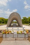 Cenotaph of Peace Memorial Park in Hiroshima, Japan Royalty Free Stock Images