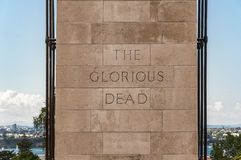 The Cenotaph. At the war memorial museum in Auckland royalty free stock image