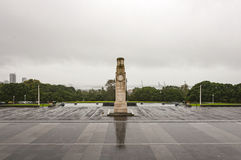 The Cenotaph. At the war memorial museum in Auckland on a rainy day stock images