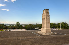 The Cenotaph. At the war memorial museum in Auckland on a sunny day stock images