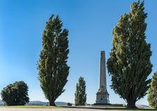 Cenotaph war memorial between trees in Hobart, Australia. Royalty Free Stock Images