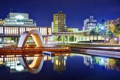 Den Hiroshima fredminnesmärken parkerar Fotografering för Bildbyråer