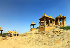 Cenotaphs in Bada Bagh - Jaisalmer India Royalty Free Stock Images
