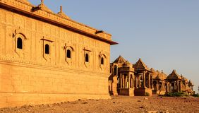 Cenotaphs of Bada Bagh, King's memorials Stock Images