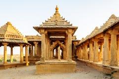 Cenotaphs Bada Bagh, królewiątko pomniki Zdjęcia Royalty Free
