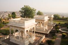 Cenotaphs on the hill overlooking Jodhpur at Jaswant Thada Kings Stock Photo