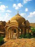 Cenotaphs reali di Bada Bagh in Jaisalmer fotografia stock libera da diritti