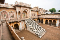 Cenotaphs with typical Rajasthani Carvings Stock Photo
