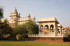 Cenotaven en de Koningenmonumenten van Jaswant Thada in Jodhpur Royalty-vrije Stock Foto