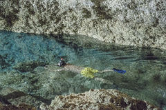Cenote Cave Interior Royalty Free Stock Image