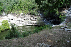 cenote chichen itza священнейшее Стоковое Фото