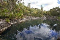 Cenote Cueva De Los Peces, Cuba photo libre de droits