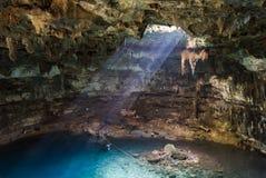 Cenote di Samula vicino a Valladolid, Yucatan, Messico Immagini Stock