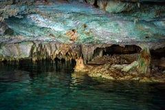 Cenote dos Ojos obraz royalty free