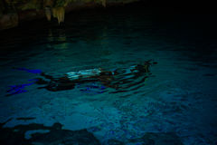 Cenote Dos Ojos. With clear blue water Royalty Free Stock Photos