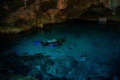 Cenote Dos Ojos. With clear blue water Royalty Free Stock Image
