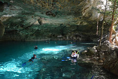 Cenote Dos Ojos in Yucatan peninsula, Mexico. Royalty Free Stock Photo
