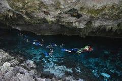 Cenote Dos Ojos in Yucatan peninsula, Mexico. Royalty Free Stock Images
