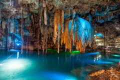 Cenote Dzitnup blisko Valladolid, Meksyk Obraz Stock
