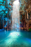 Cenote Dzitnup near Valladolid, Mexico Royalty Free Stock Photography