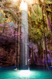 Cenote Dzitnup near Valladolid, Mexico Royalty Free Stock Photo
