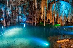 Cenote Dzitnup near Valladolid, Mexico Stock Images