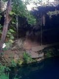 Cenote em Valladolid, península Iucatão, México Foto de Stock