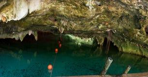 Cenote grande um dos cenotes os mais famosos em México fotos de stock