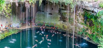 Cenote Ik Kil near Chichen Itza, Mexico Stock Photography