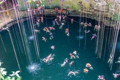Cenote Ik Kil near Chichen Itza, Mexico Stock Photo