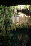 Cenote Ik Kil perto de Chichen Itza, México imagens de stock