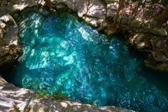 Cenote in Riviera Maya of Mayan Mexico royalty free stock photography