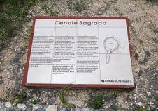 Cenote sagrado, Chichen Itza foto de archivo libre de regalías