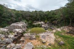 Cenote sagrado Chichen Itza, península do Iucatão, México Fotos de Stock Royalty Free