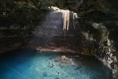 Cenote Samula in Yucatan peninsula, Mexico. Stock Images