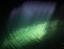Cenote strålar av lampa Arkivbilder