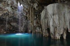 Cenote X-Keken (Dzitnup) in Yucatan peninsula, Mexico. Royalty Free Stock Photo