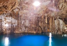Cenote Xkeken sinkhole in Valladolid Mexico Stock Image
