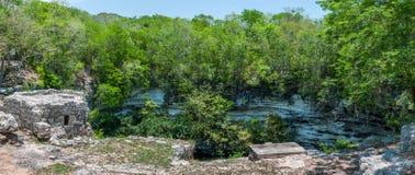 Cenote Xtoloc przy Chicen Itza, Jukatan, Meksyk fotografia royalty free