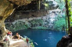 Cenote Zací, Valladolid, Mexico stock photo