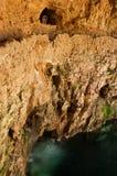 Cenote Zaci известняк в Valladolid, Мексике. стоковое изображение rf