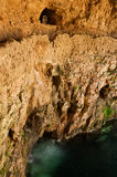 Cenote Zaci uma pedra calcária em Valladolid, México. imagem de stock royalty free