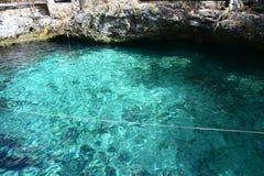 Cenote Zacil Ha dichtbij Tulum Mexico stock afbeeldingen