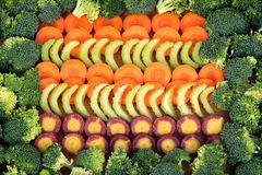 Cenoura, aipo e brócolis Imagens de Stock