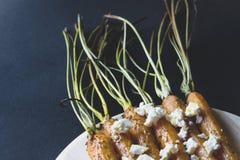 Cenoura com queijo Foto de Stock Royalty Free